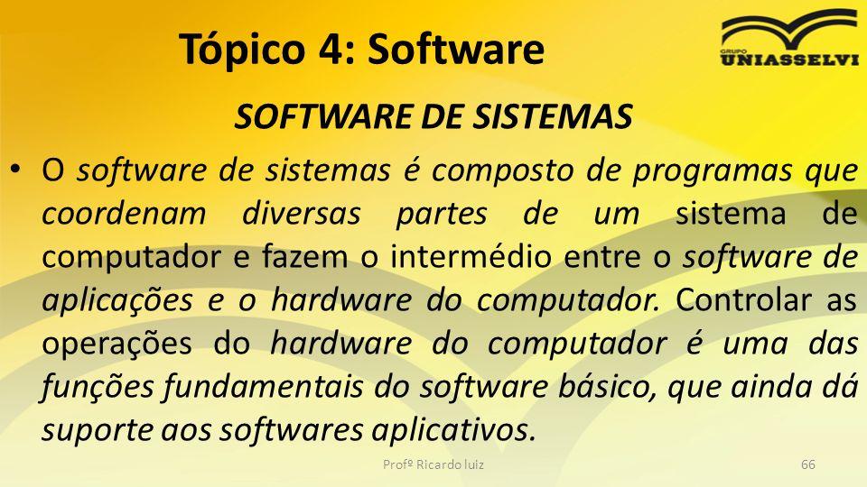Tópico 4: Software SOFTWARE DE SISTEMAS