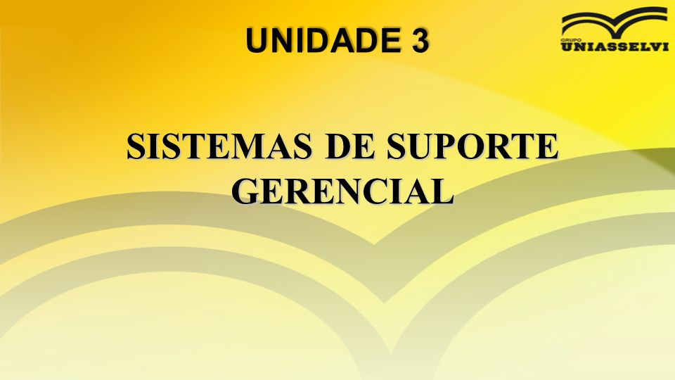 SISTEMAS DE SUPORTE GERENCIAL
