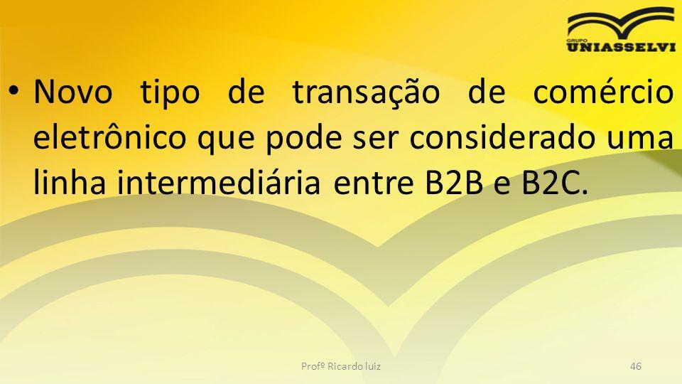 Novo tipo de transação de comércio eletrônico que pode ser considerado uma linha intermediária entre B2B e B2C.