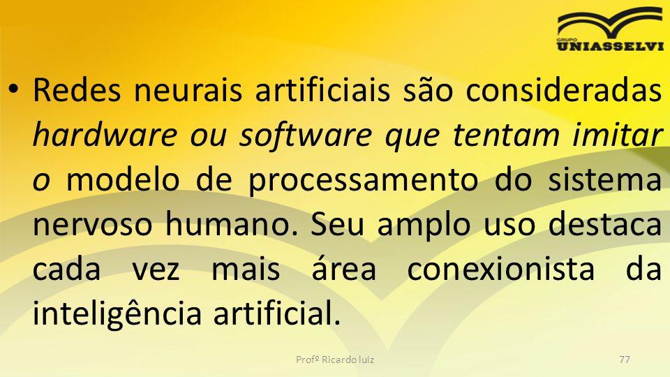 Redes neurais artificiais são consideradas hardware ou software que tentam imitar o modelo de processamento do sistema nervoso humano. Seu amplo uso destaca cada vez mais área conexionista da inteligência artificial.