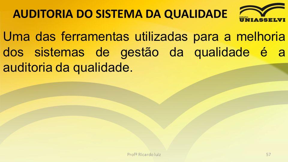 AUDITORIA DO SISTEMA DA QUALIDADE