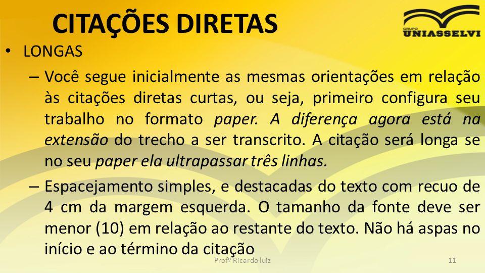 CITAÇÕES DIRETAS LONGAS