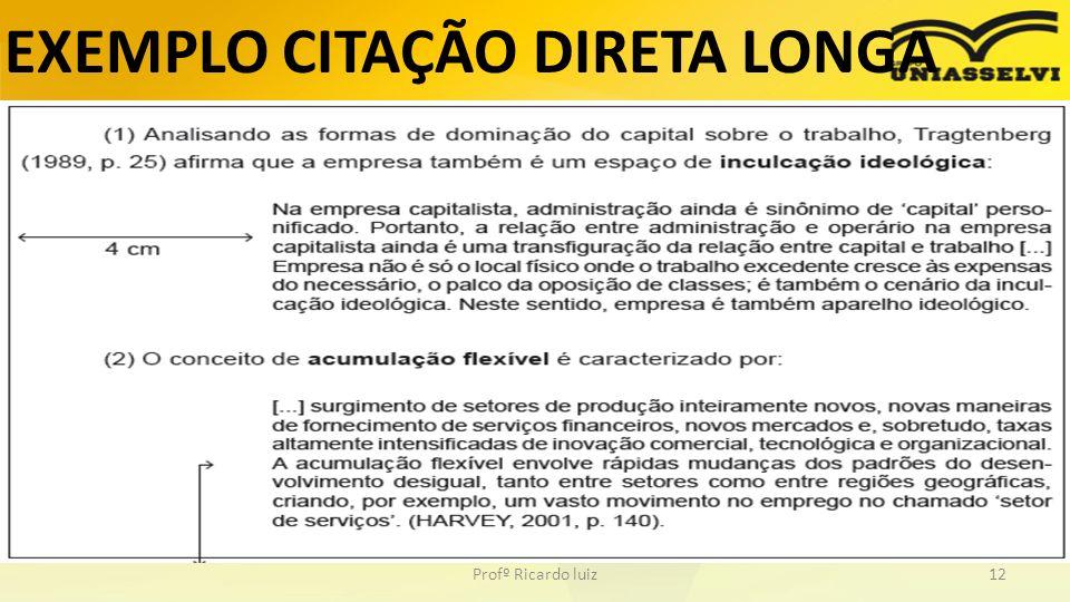 EXEMPLO CITAÇÃO DIRETA LONGA