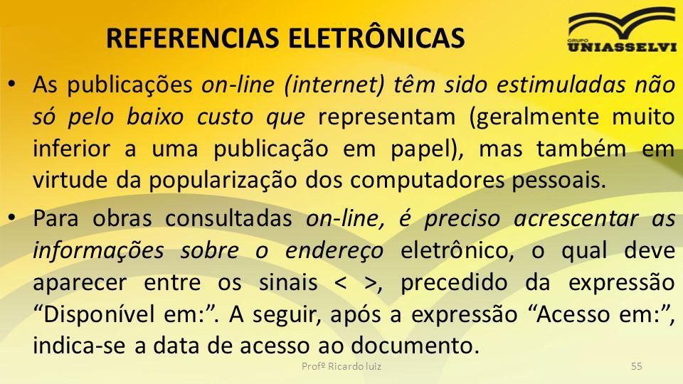 REFERENCIAS ELETRÔNICAS