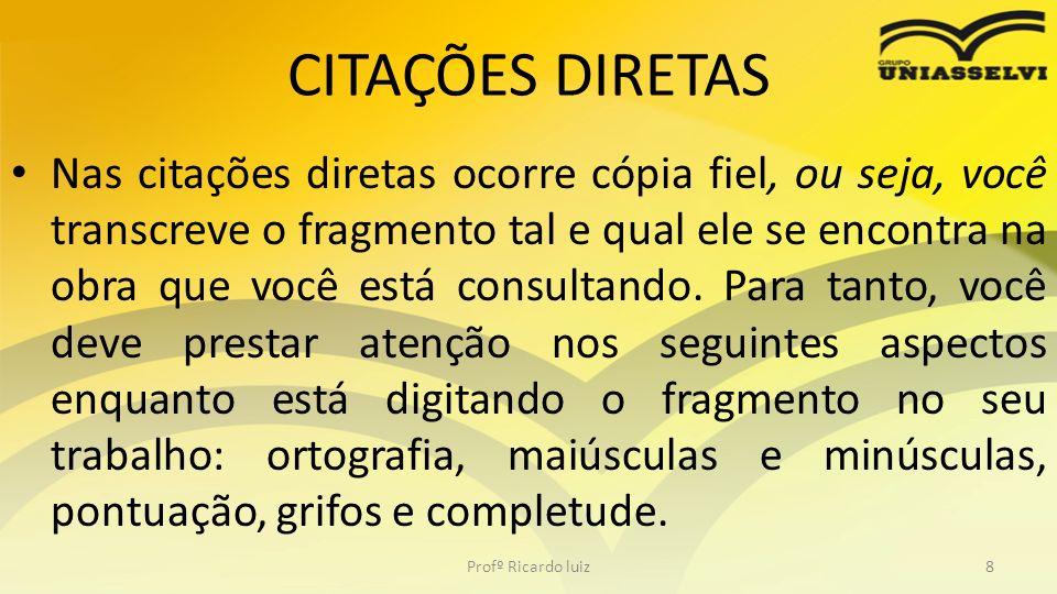 CITAÇÕES DIRETAS
