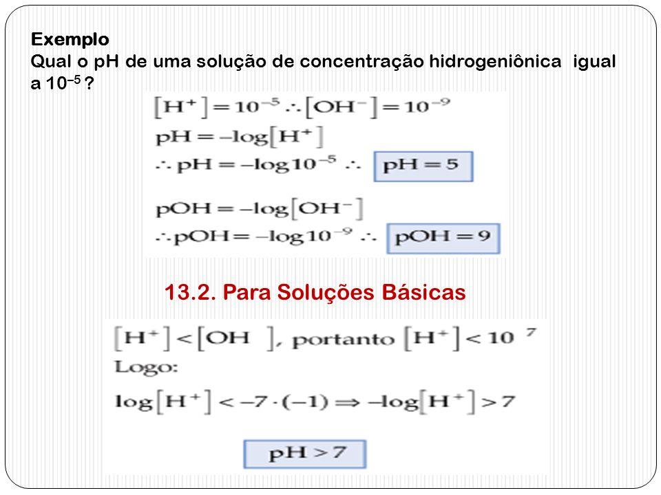 13.2. Para Soluções Básicas Exemplo