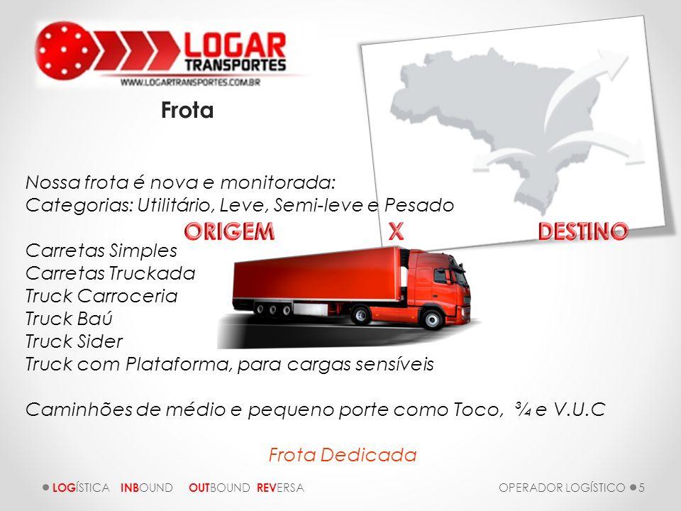 LOGAR TRANSPORTES Frota ORIGEM X DESTINO