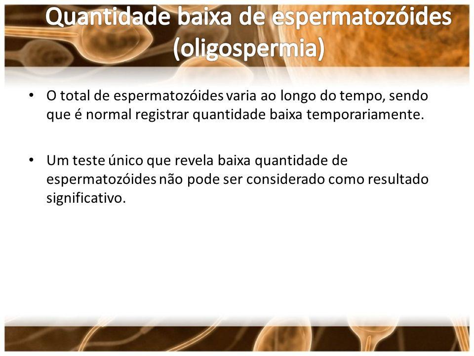 Quantidade baixa de espermatozóides (oligospermia)