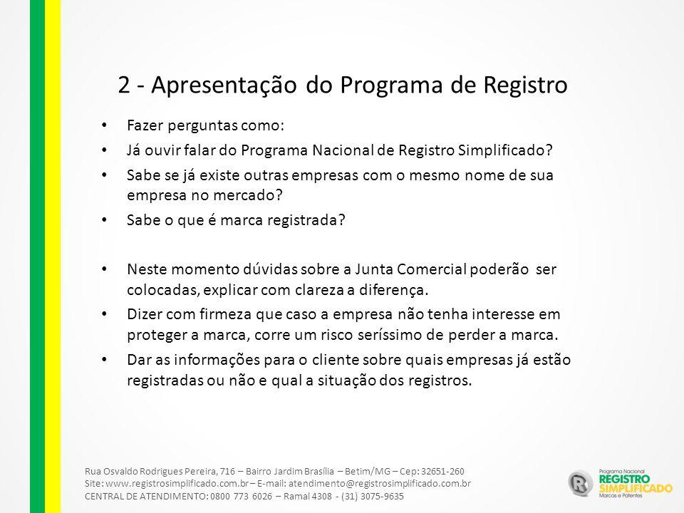 2 - Apresentação do Programa de Registro