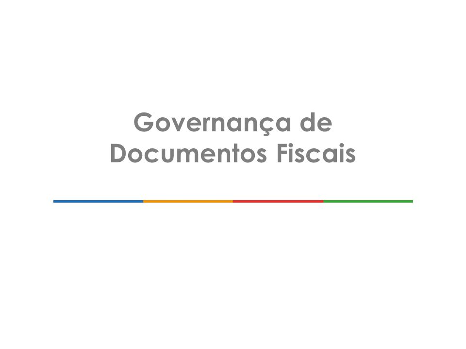 Governança de Documentos Fiscais