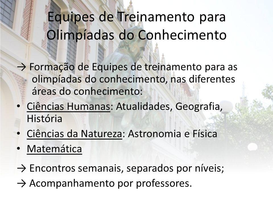 Equipes de Treinamento para Olimpíadas do Conhecimento