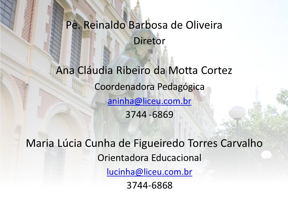 Pe. Reinaldo Barbosa de Oliveira Diretor