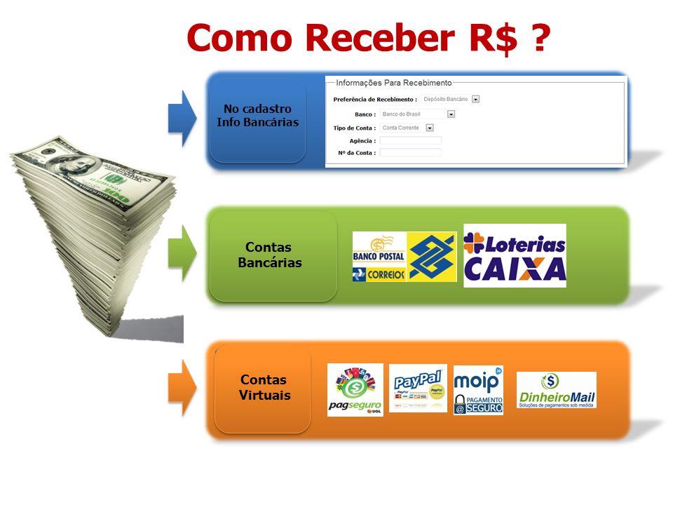 Como Receber R$ Contas Bancárias Contas Virtuais No cadastro