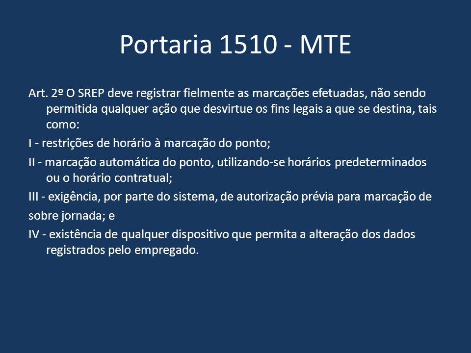 Portaria 1510 - MTE