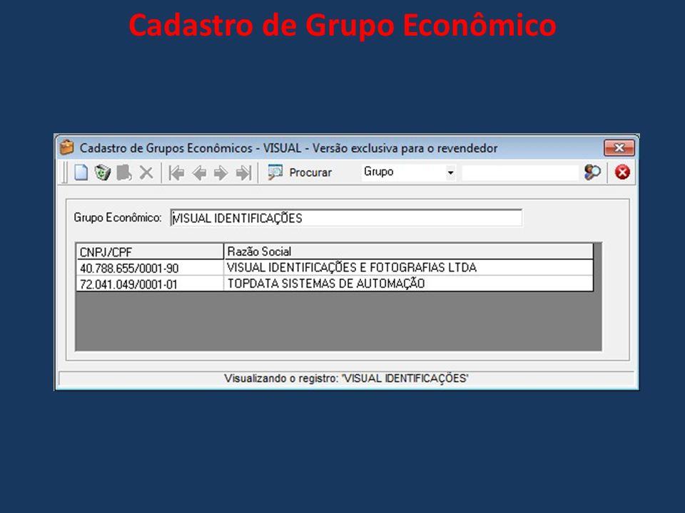 Cadastro de Grupo Econômico
