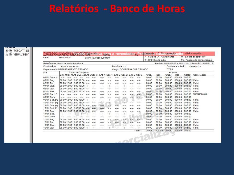 Relatórios - Banco de Horas