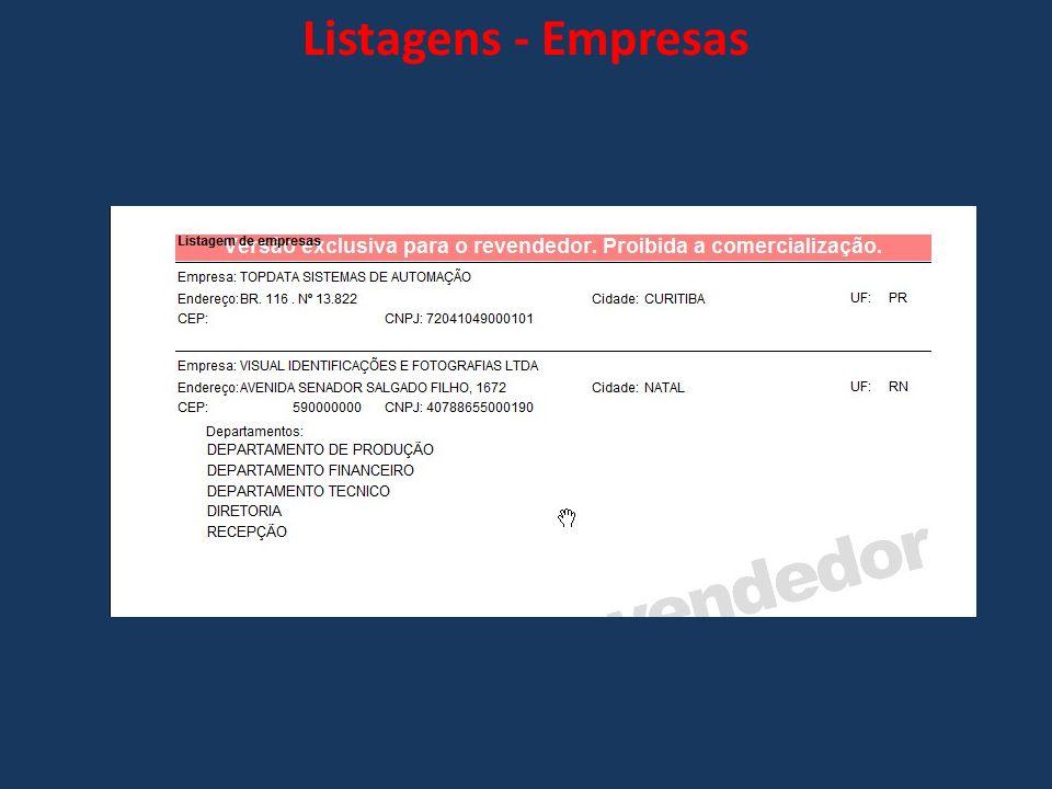 Listagens - Empresas