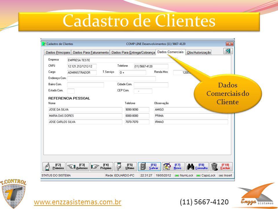 Dados Comerciais do Cliente