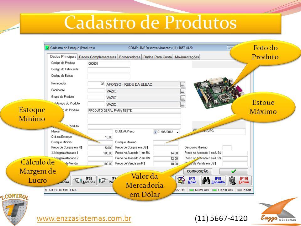 Cadastro de Produtos www.enzzasistemas.com.br (11) 5667-4120