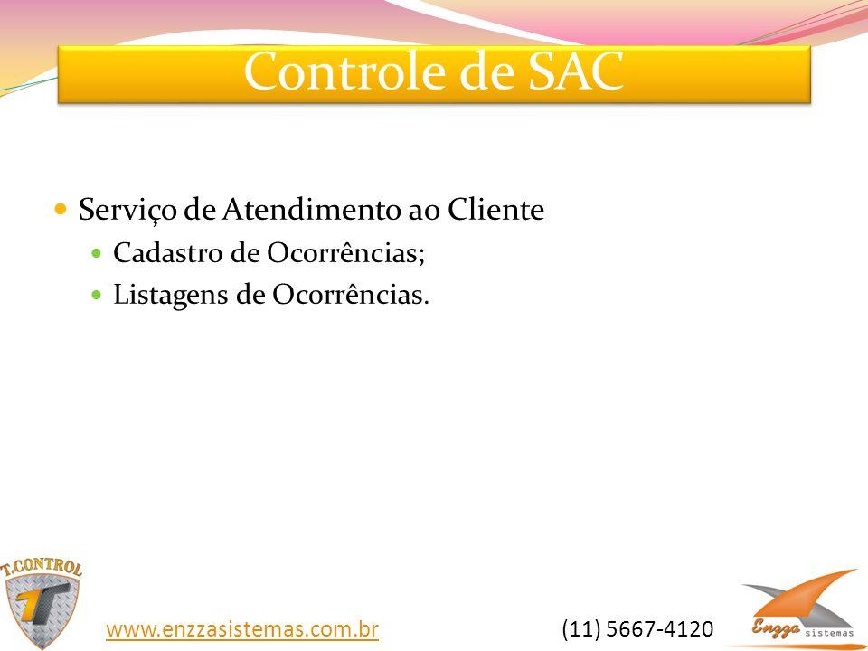 Controle de SAC Serviço de Atendimento ao Cliente