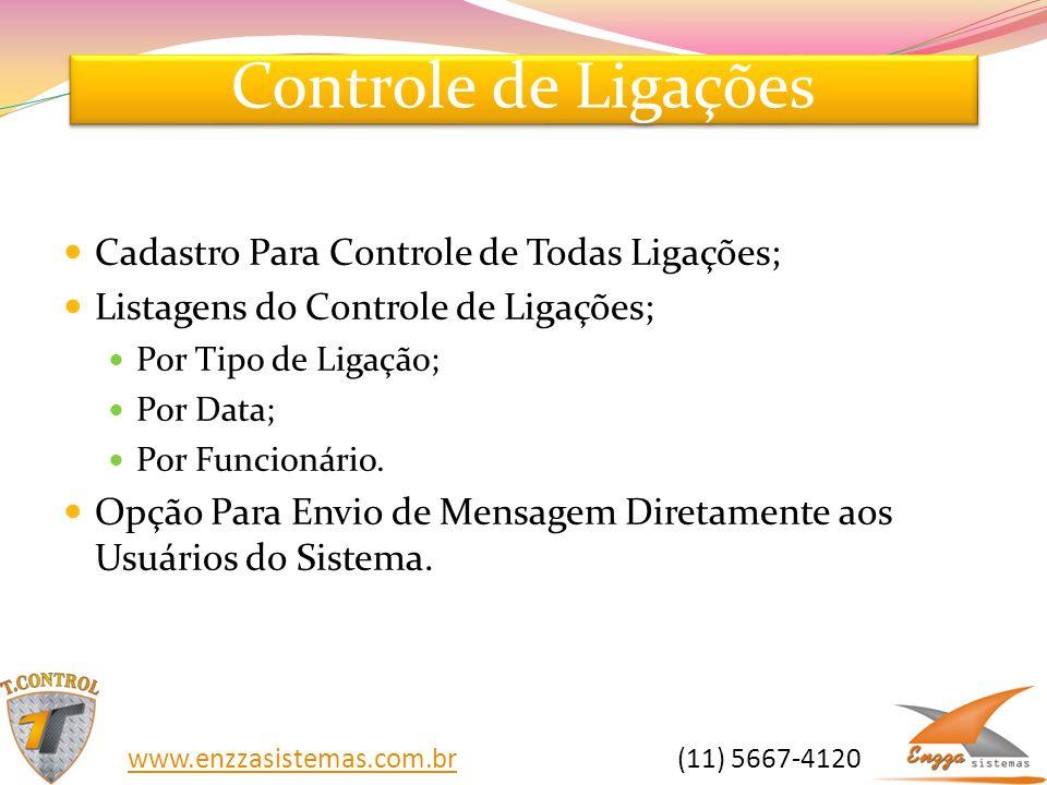 Controle de Ligações Cadastro Para Controle de Todas Ligações;