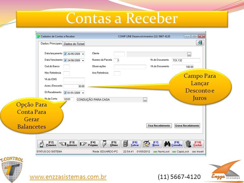 Contas a Receber www.enzzasistemas.com.br (11) 5667-4120