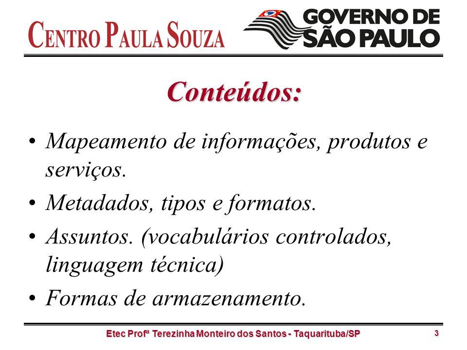 Etec Profª Terezinha Monteiro dos Santos - Taquarituba/SP