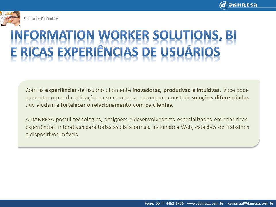 Information Worker Solutions, BI e Ricas Experiências de Usuários