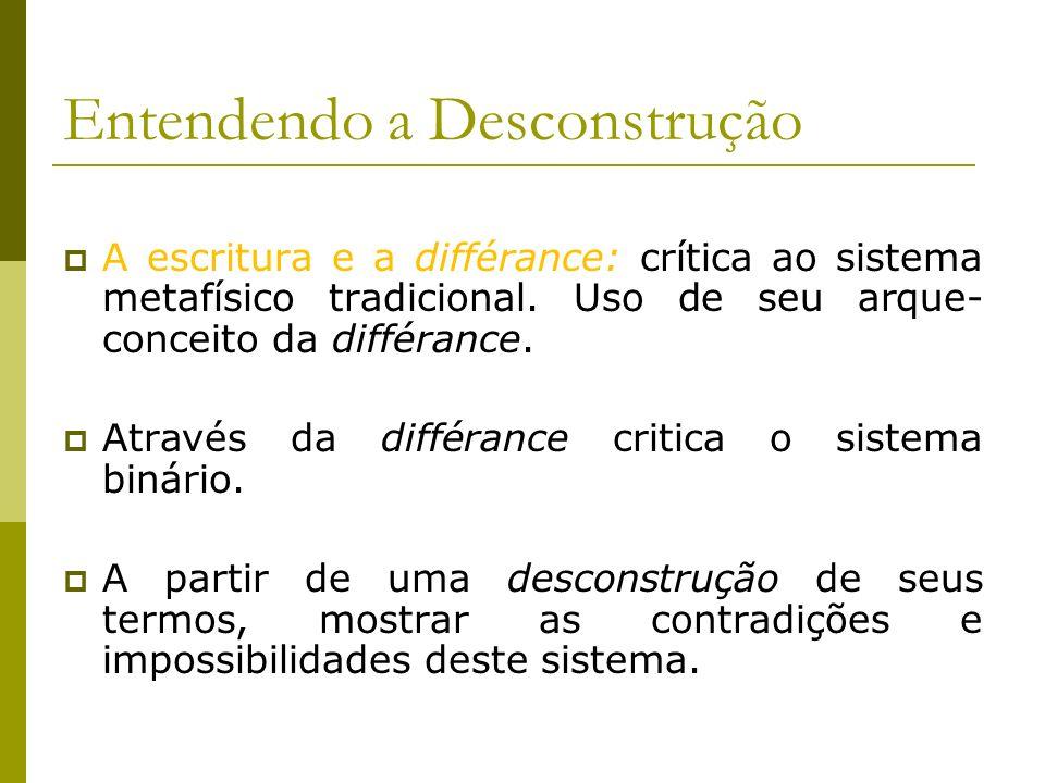 Entendendo a Desconstrução
