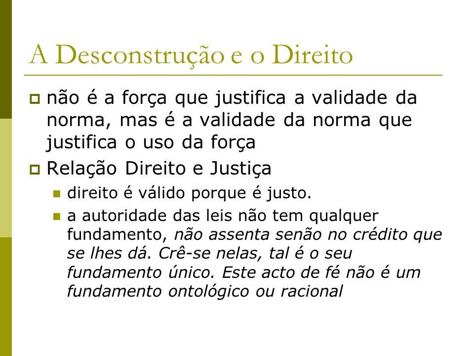 A Desconstrução e o Direito