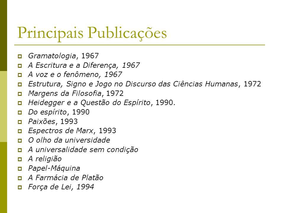 Principais Publicações