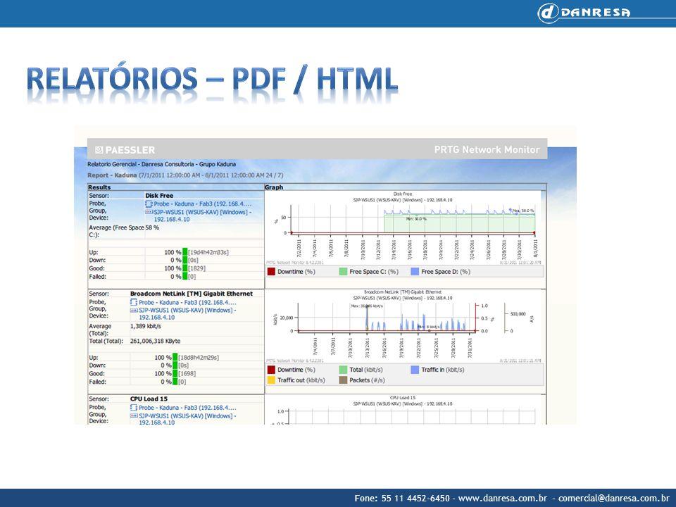 Relatórios – PDF / HTML