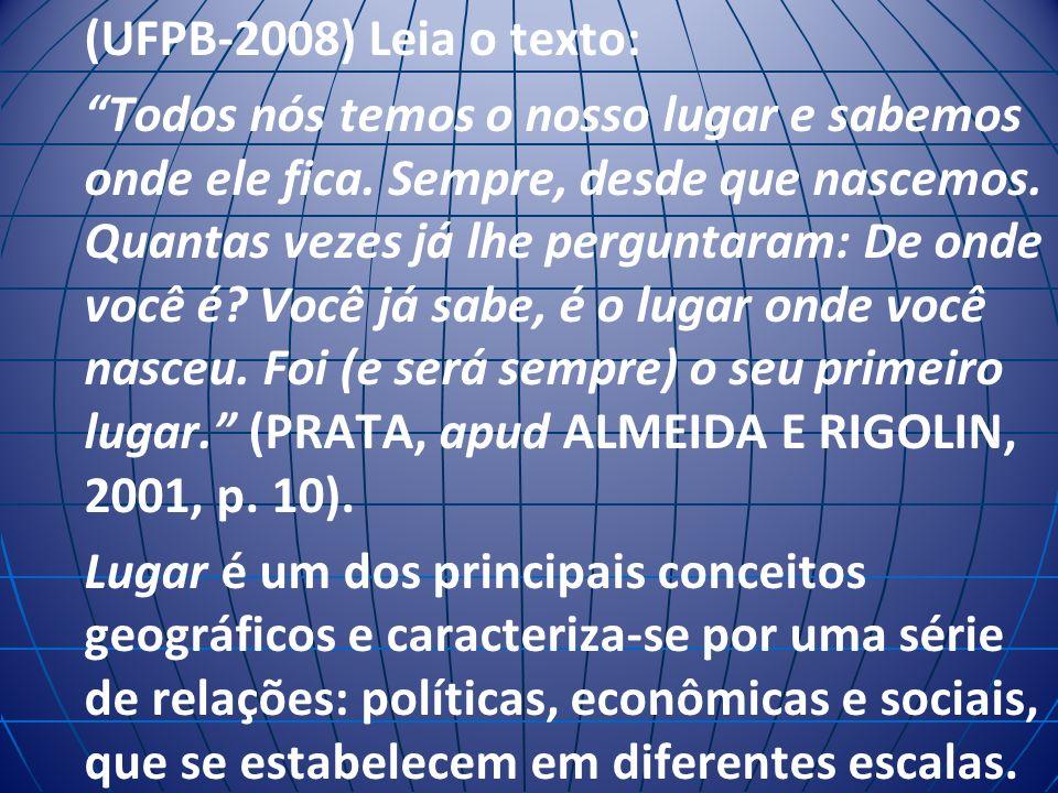 (UFPB-2008) Leia o texto: