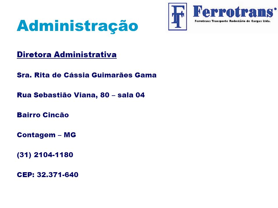 Administração Diretora Administrativa