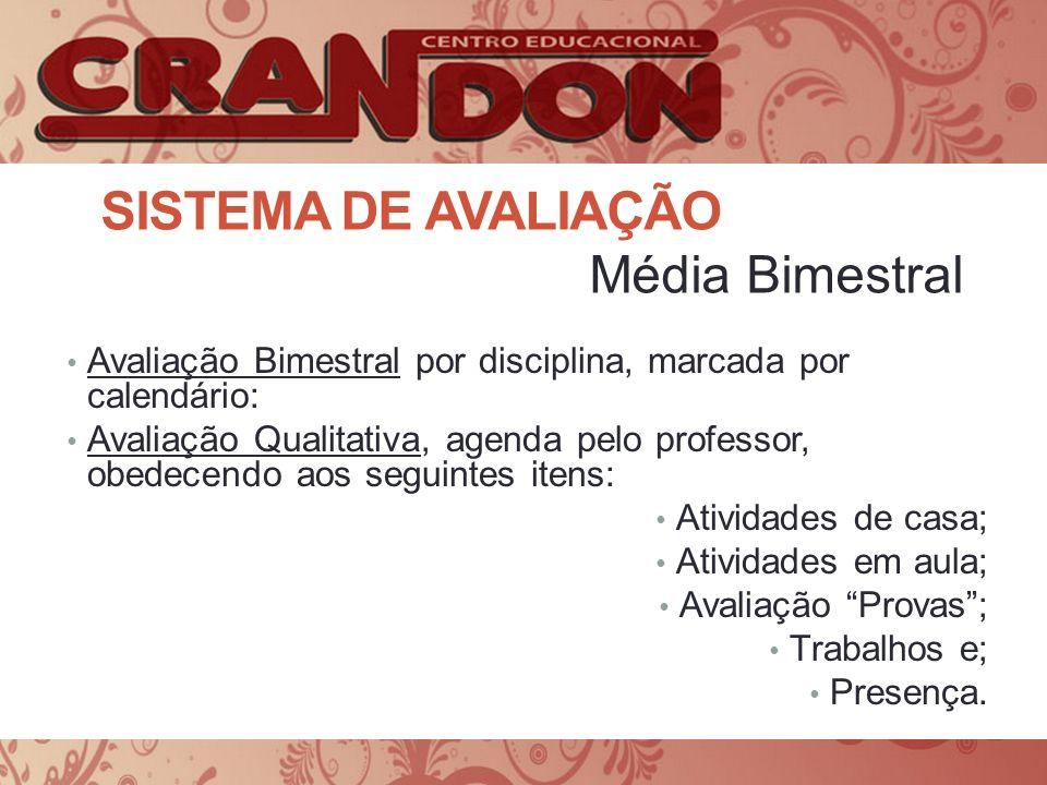Sistema de avaliação Média Bimestral