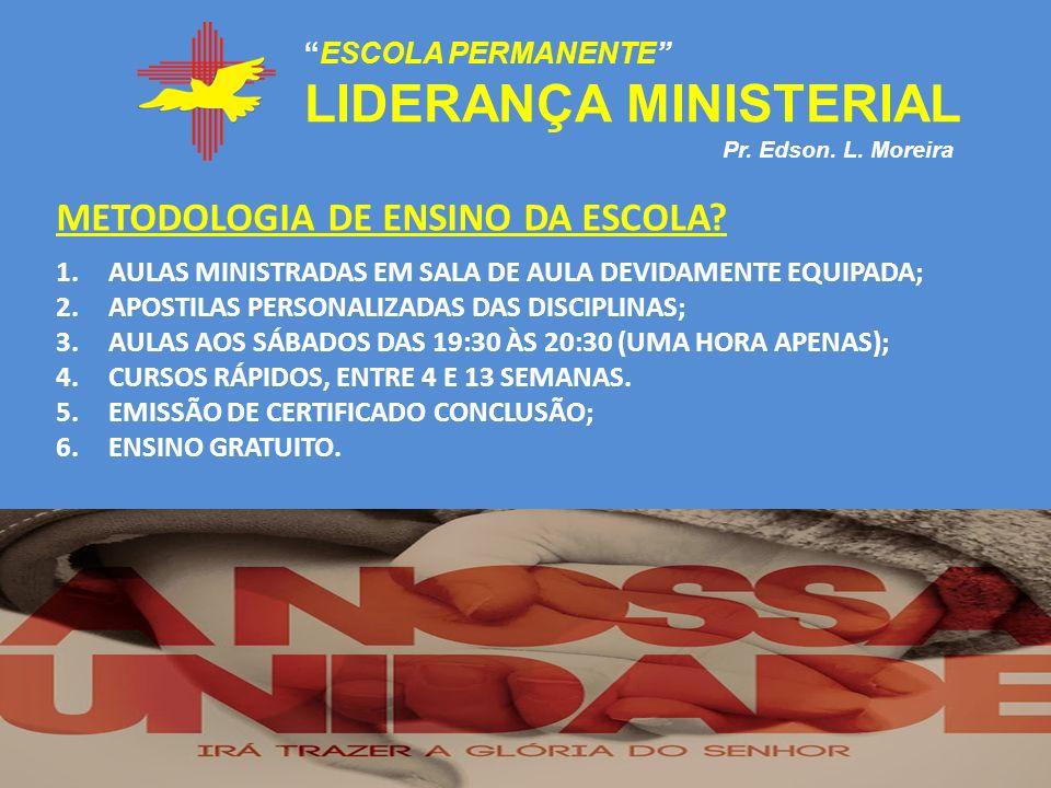 LIDERANÇA MINISTERIAL