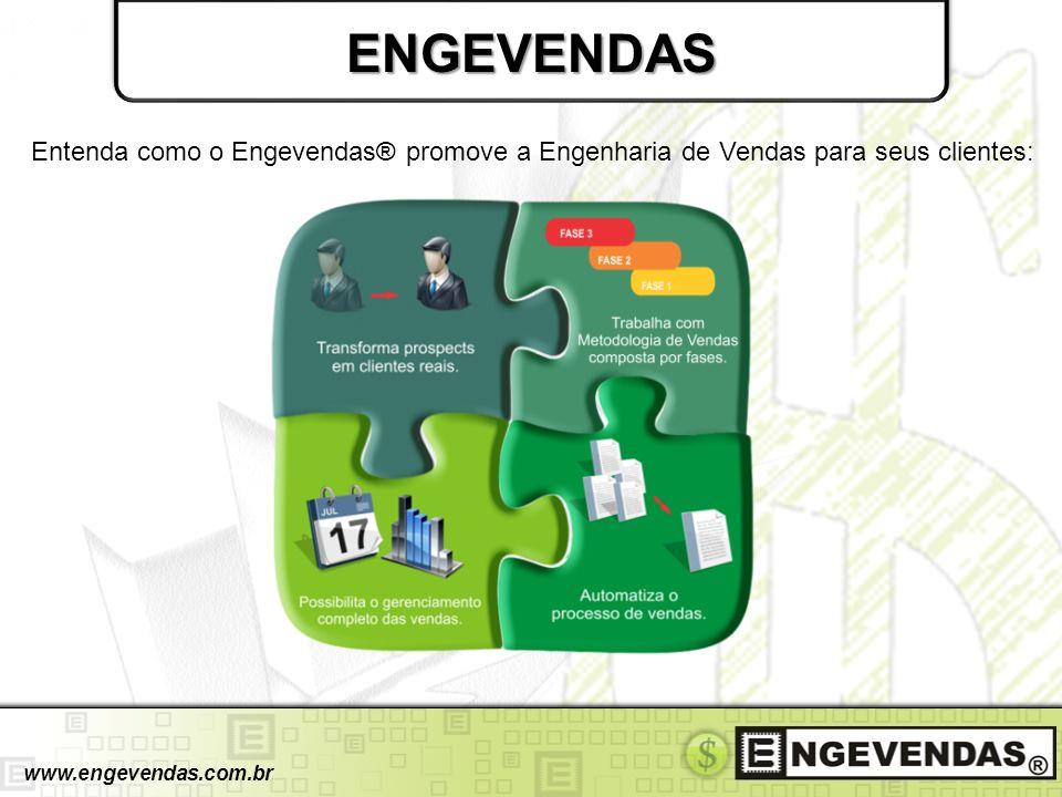 ENGEVENDAS Entenda como o Engevendas® promove a Engenharia de Vendas para seus clientes: www.engevendas.com.br.
