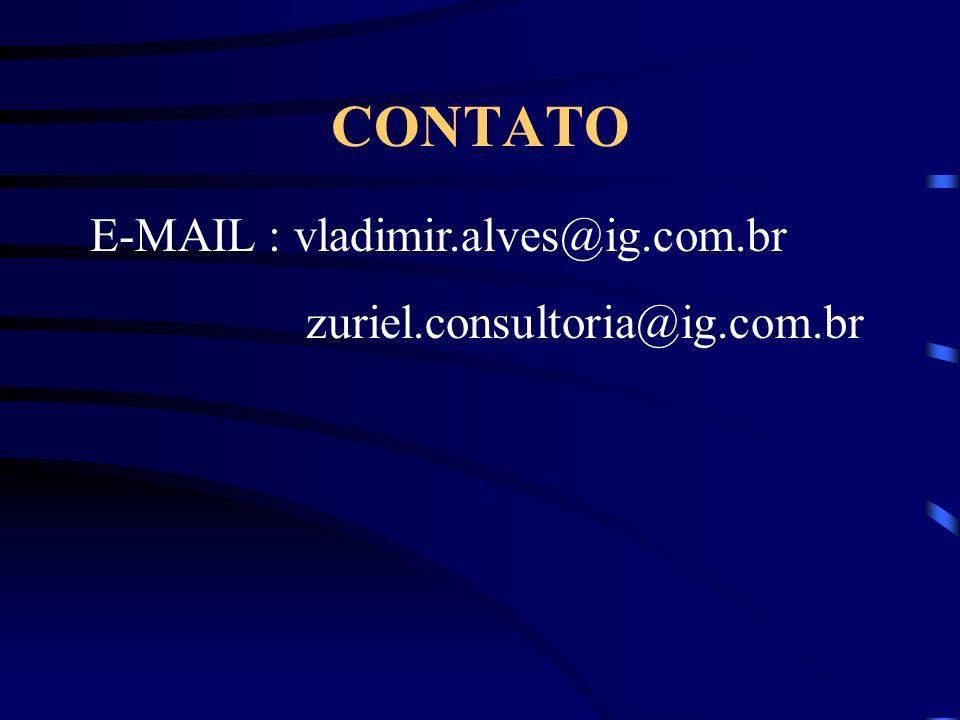 CONTATO E-MAIL : vladimir.alves@ig.com.br zuriel.consultoria@ig.com.br
