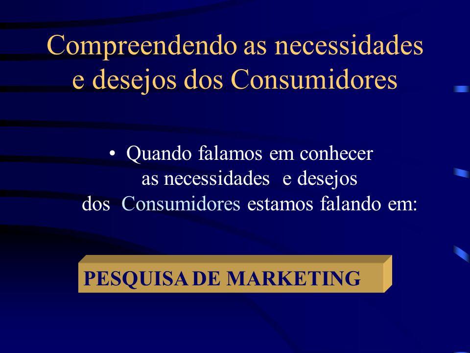 Compreendendo as necessidades e desejos dos Consumidores