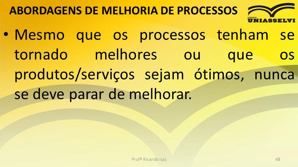 ABORDAGENS DE MELHORIA DE PROCESSOS