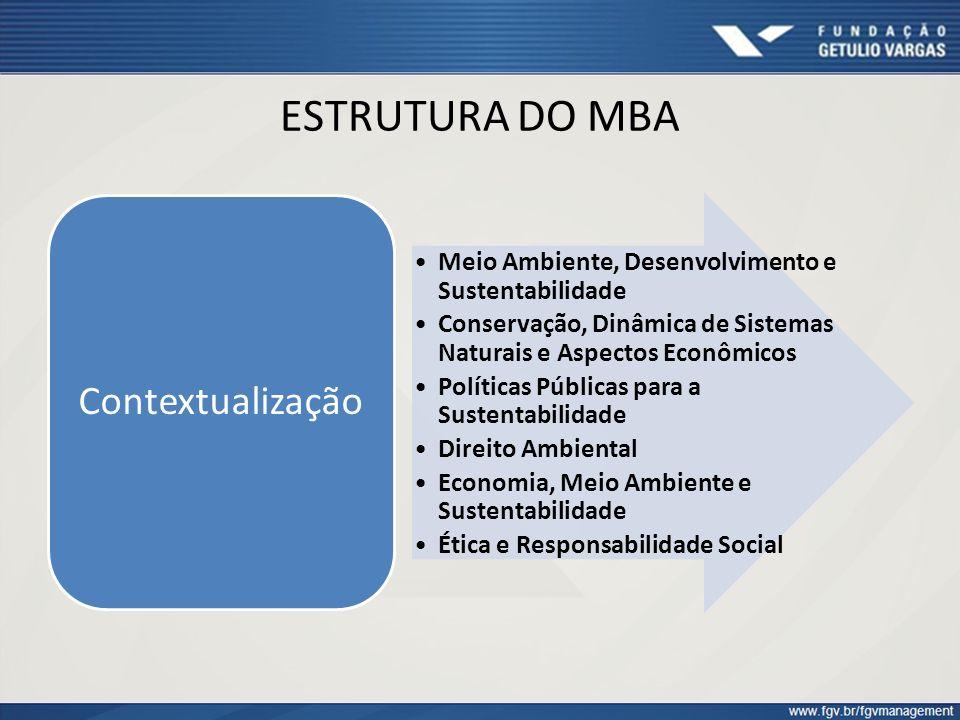 ESTRUTURA DO MBA Contextualização
