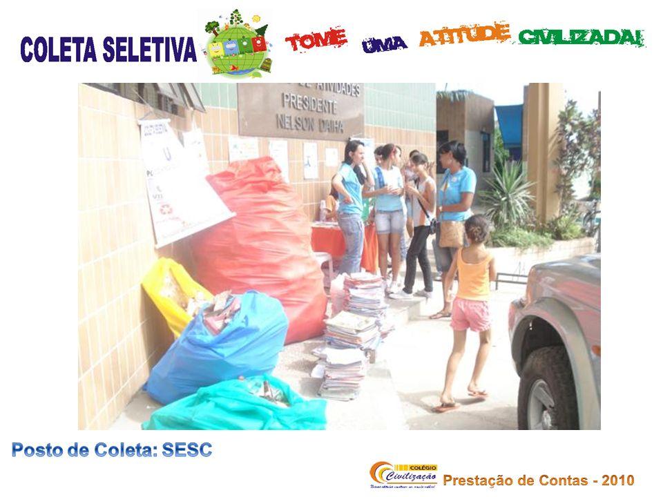 Posto de Coleta: SESC Prestação de Contas - 2010