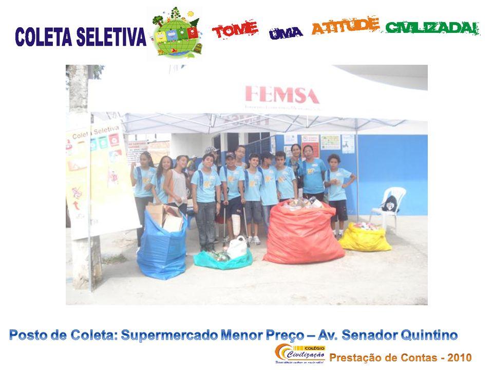 Posto de Coleta: Supermercado Menor Preço – Av. Senador Quintino