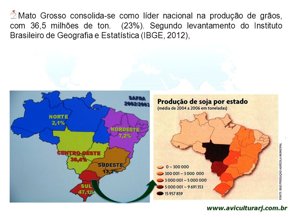 Mato Grosso consolida-se como líder nacional na produção de grãos, com 36,5 milhões de ton.