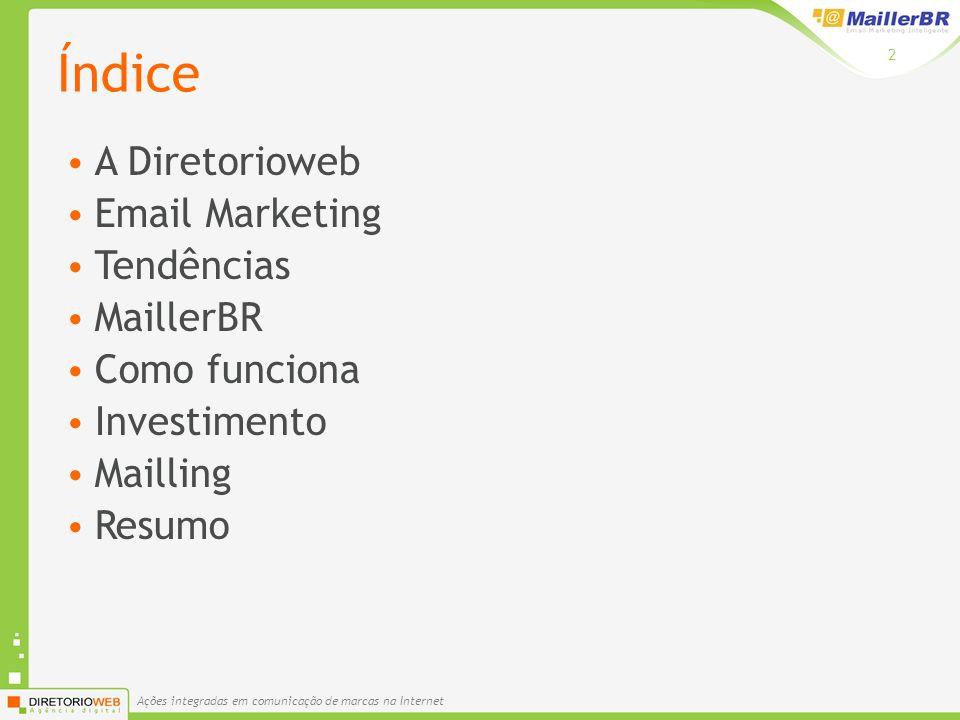 Índice A Diretorioweb Email Marketing Tendências MaillerBR