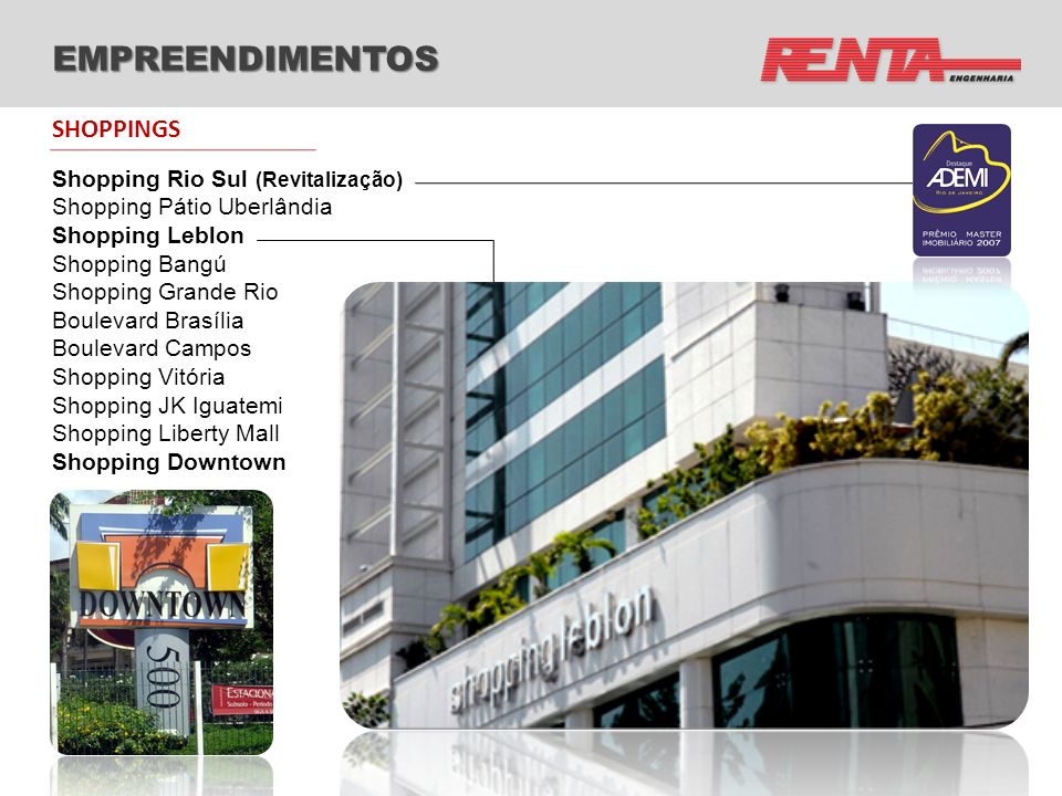 EMPREENDIMENTOS SHOPPINGS Shopping Rio Sul (Revitalização)