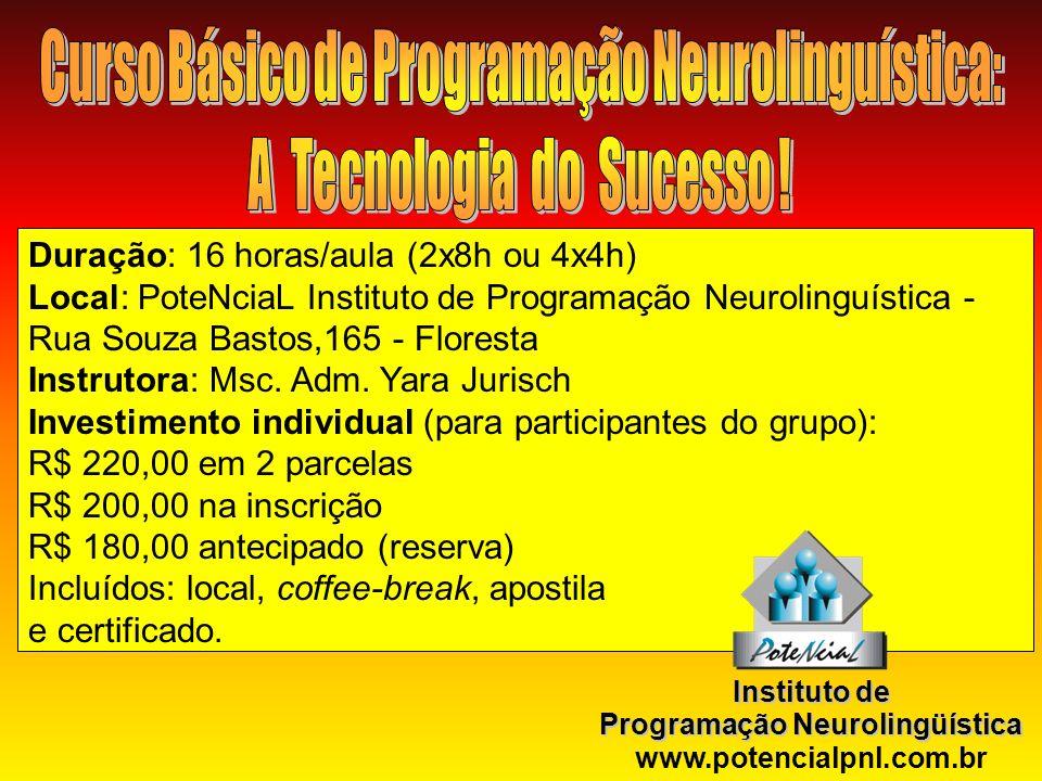 Curso Básico de Programação Neurolinguística: