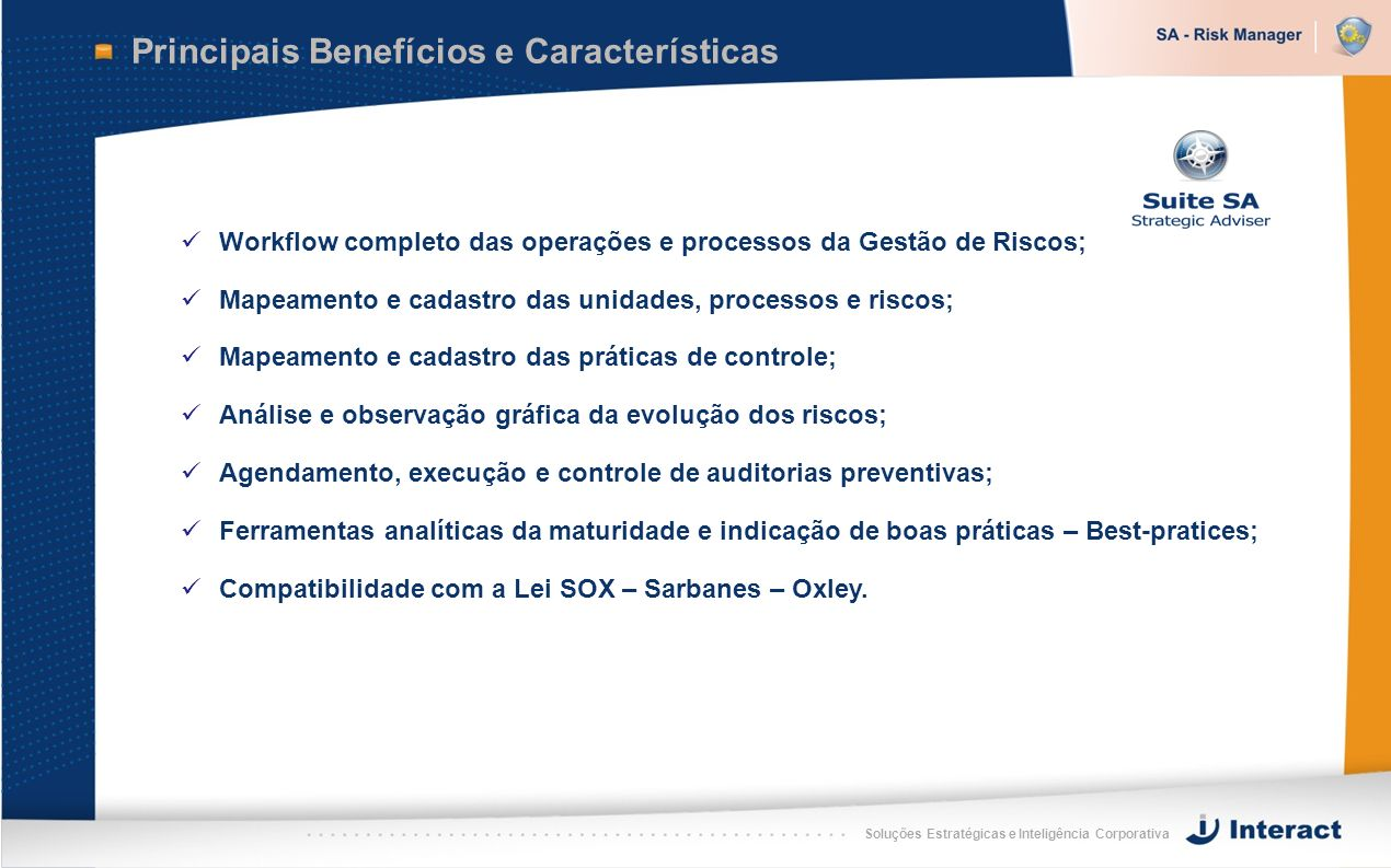 Principais Benefícios e Características