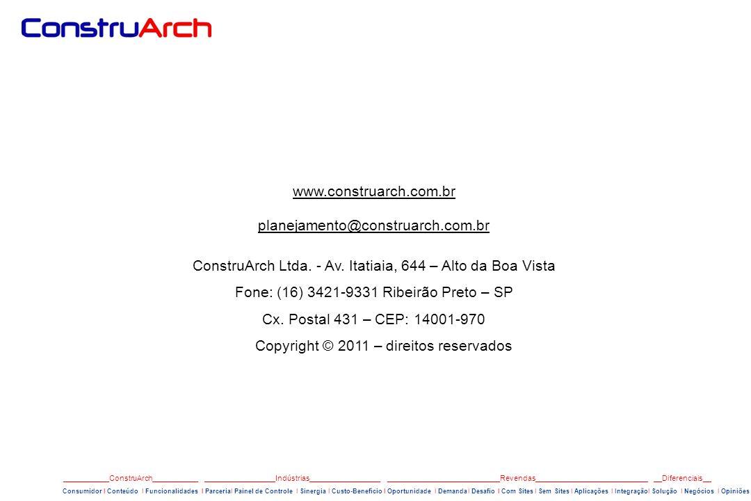 ConstruArch Ltda. - Av. Itatiaia, 644 – Alto da Boa Vista