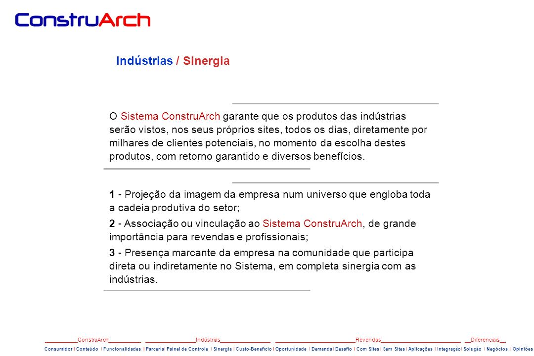 Indústrias / Sinergia